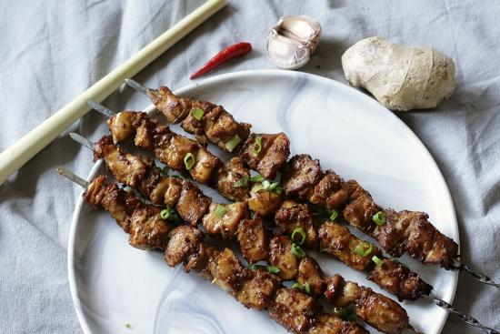 Lemongrass Ginger Chicken Skewers