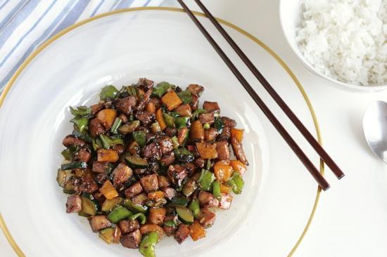 Let's Dine In - Spicy Three Pepper Chicken Stir Fry