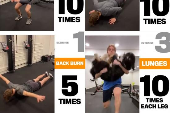 NHL players' stay-in-shape workouts for self-isolation
