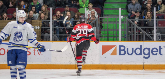 Ottawa 67's Clinch Top Spot in the East While Tye Felhaber Has a Week For the Books
