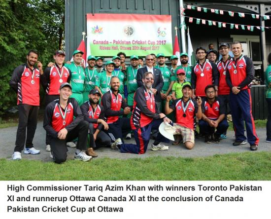 Ottawa hosts first ever Canada-Pakistan Cricket Cup