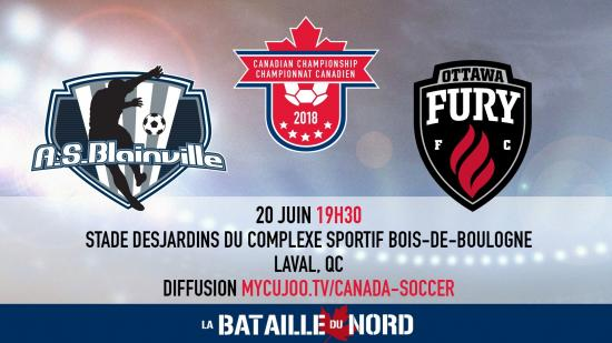 Ottawa Fury Canadian Championship matchup against semi-pro AS Blainville