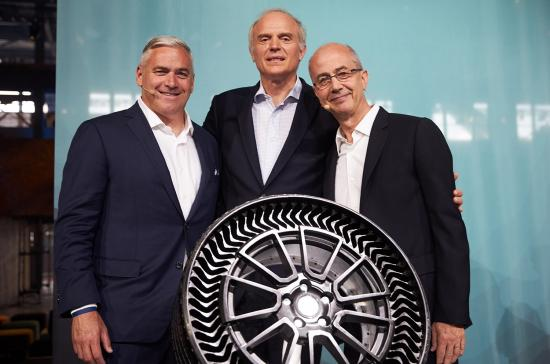 Puncture-proof tire rolled out at sustainability summit