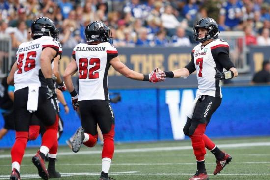 Redblacks Fire on All Cylinders in Road Win Over Blue Bombers