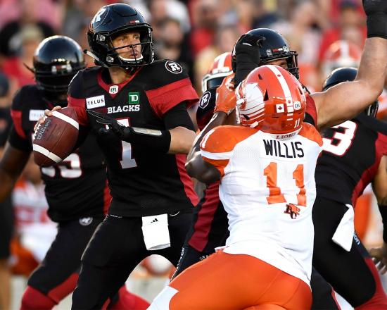 Redblacks Offense Delivers in Last-Minute Victory Over Lions