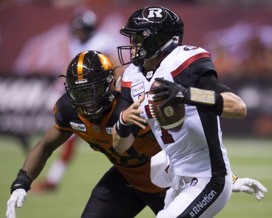 Redblacks Throttled by BC Pass Rush, Drop Second Straight Game