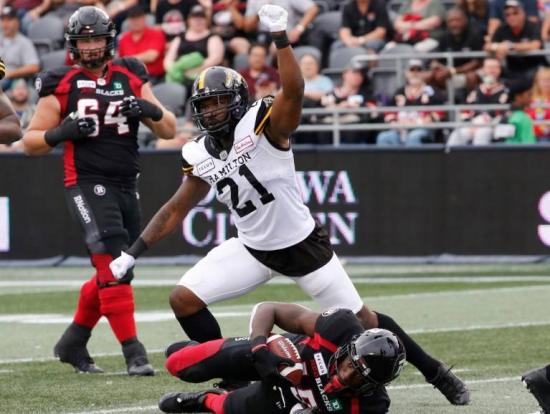 Redblacks offence sputters once again in loss to Ti-Cats