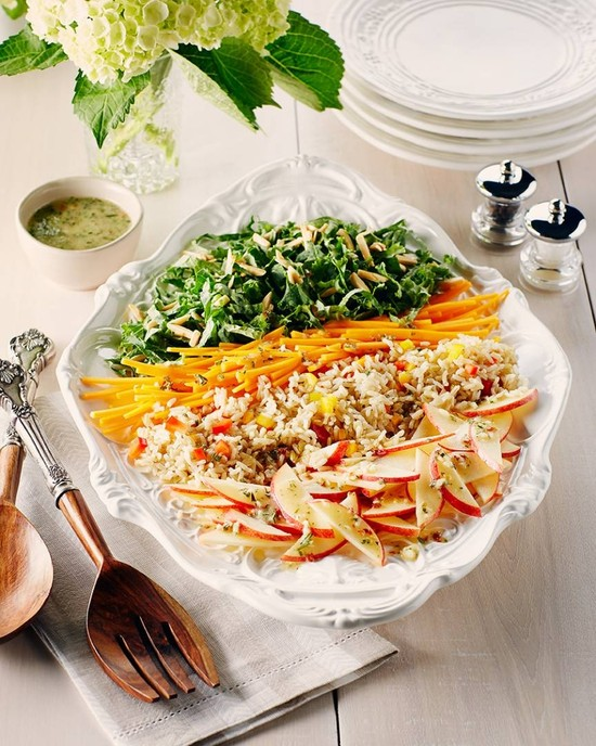 Kale, Brown Rice and Butternut Salad