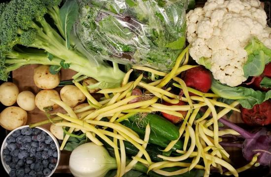 The beauty of seasonal and fresh raw vegetables