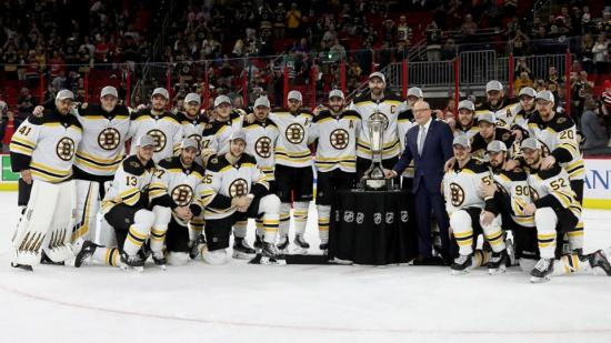 Bruins in a relaxed frame on the way to Cup final