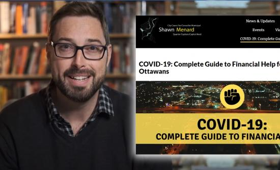 City Councillor Shawn Menard launches COVID-19 financial support guide