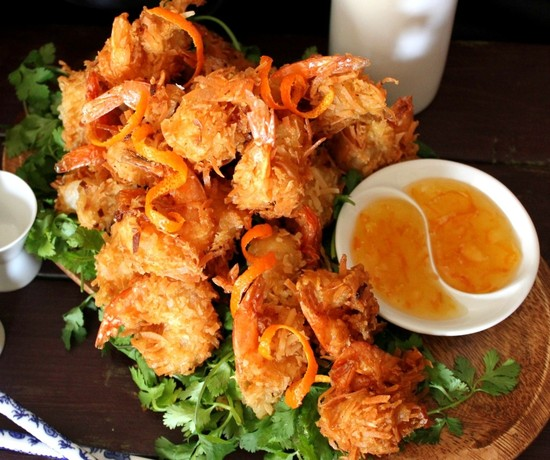 Coconut Fried Shrimp with Orange Marmalade