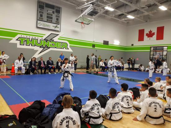 TaeKwon-Do practitioners honour the late General Choi Hong Hi at the Memorial Cup