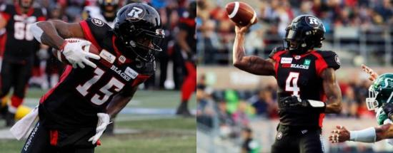 The Dominiques: Davis and Rhymes' offseason training has helped lead to early season breakout with Ottawa Redblacks