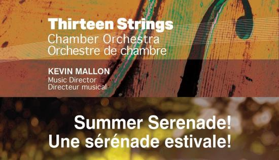 Thirteen Strings presents a charming way to close the season with a Summer Serenade