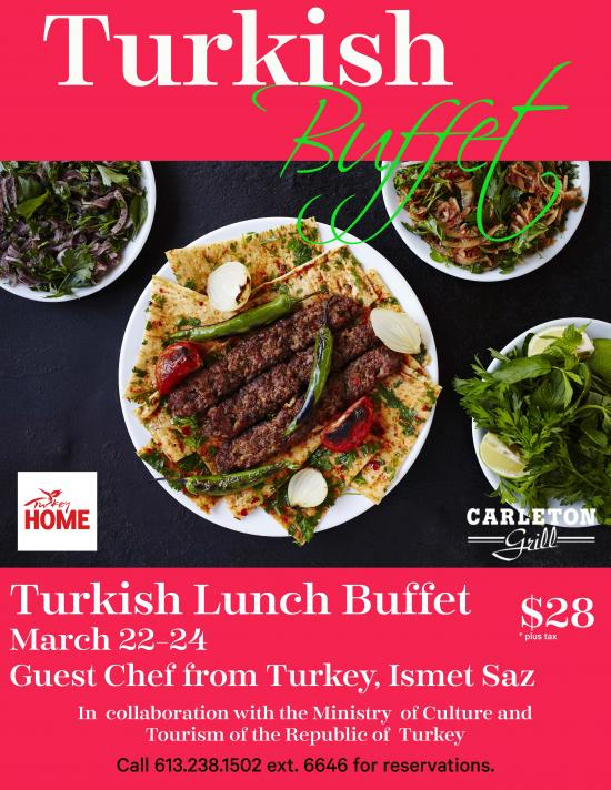 Turkish Gastronomy Festival Buffet from March 22nd to 24th: an experience of wonderful dishes prepared by the talented Chef Ismet