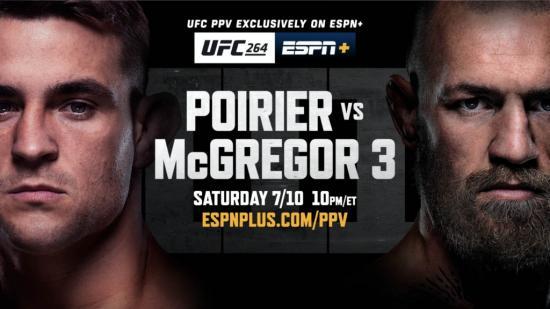 UFC 264: Poirier vs McGregor III
