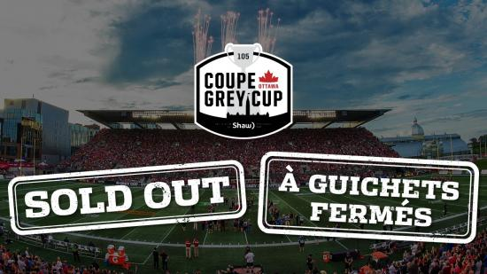 Grey Cup Sells Out
