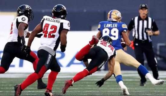 Walloped in Winnipeg: Redblacks drop third straight game in loss to Blue Bombers