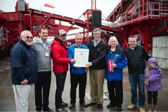 Tomlinson Celebrates the Opening of its New Waste Recovery Centre in Carp