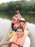 On our way by canoe to the Embera Indian village of Parara Puru.