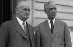 U.S. Representative Willis C. Hawley & U.S. Senator Reed Smoot in 1929