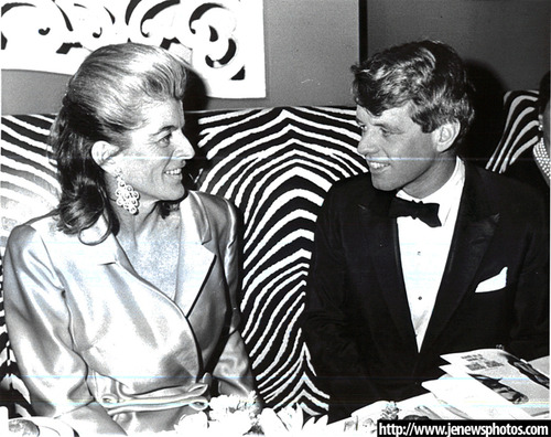 Pat Kennedy Lawford with Robert Kennedy