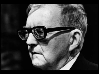 Dmitri Shostakovich in late middle age