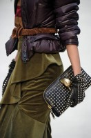 STUDDED LEATHER GLOVES As seen on the Burberry runway, studded leather gloves provide subtle style substance to any ensemble. Available at Holt Renfrew