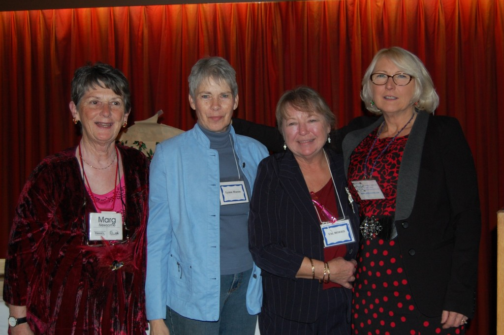 Left to right: Rural Women's Business Network founders Marg Newsome and Lynn Mann, with longtime member Val Morris and coordinator Cindy Jackson. At their recent Christmas dinner, Val thanked the other three for running the network as volunteers for almost 18 years.