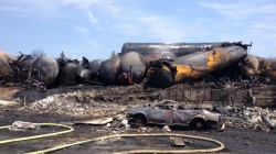 Destruction at ground zero in Lac-Megantic