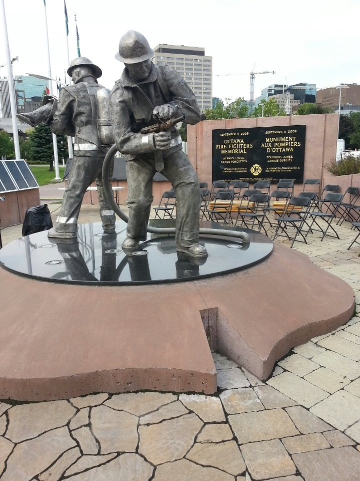 Ottawa Fire Fighters Memorial, unveiled September 2012.