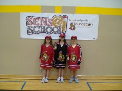 Kids from the Sens @ School program supported by the Sens Foundation.