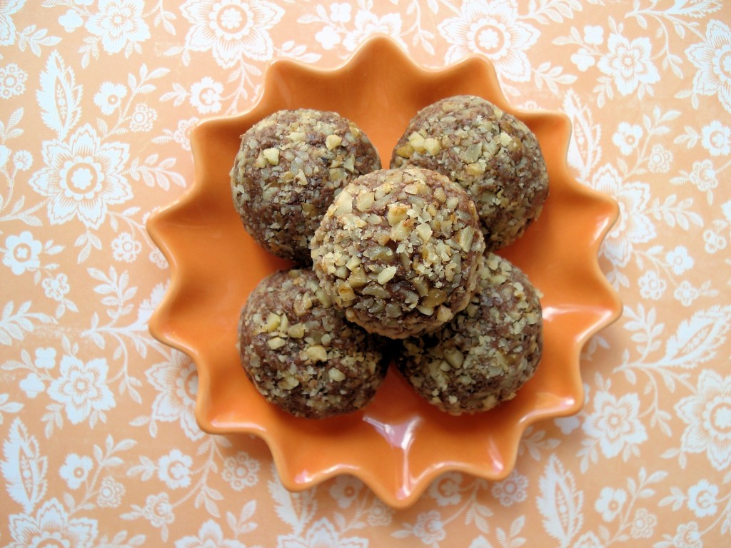 Chocolate Ganache Cherry Walnut Truffles 1 013