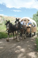 Upon arrival at Latigo Ranch your car is hidden away and a chuck wagon transitions you to a week of frontier living.