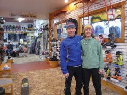 Nordic ski specialists Brian and Karen at High Peaks Cyclery.