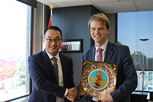 Deputy Minister of Foreign Affairs of Kazakhstan Yerzhan Ashikbayev and Minister of Citizenship and Immigration of Canada, the Hon. Chris Alexander