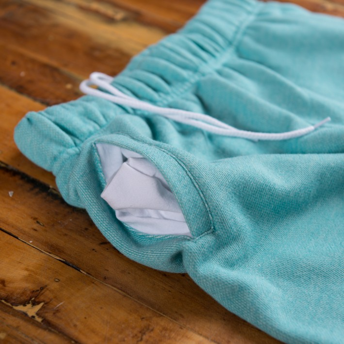 Lazypants Mint French Fleece Detail Sweatpants