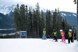 Canada's future downhill team practice on the slopes of Nakiska!