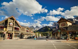 The town of Canmore, Alberta
