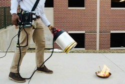 The future of firefighting may use soundwaves instead of chemicals. Photo credit.