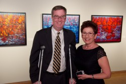 Mayor Jim Watson (left) and Margaret in the Annex Gallery.