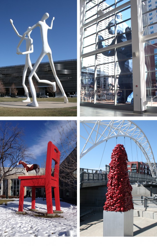 A small sampling of Denver Public  Art.