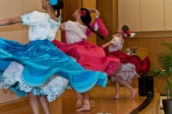 Dancers perform at Latin Expo 2014
