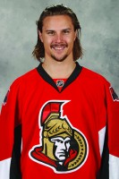 OTTAWA, CANADA - SEPTEMBER 18: Erik Karlsson #65 of the Ottawa Senators poses for his official headshot for the 2014-2015 season on September 18, 2014 at Canadian Tire Centre in Ottawa, Ontario, Canada. (Photo by Jana Chytilova/NHLI via Getty Images) *** Local Caption *** Erik Karlsson