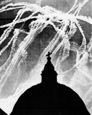 Contrail Webs from a Dogfight During the Battle of Britain