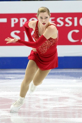 Alaine Chartrand competing at 2015 Four Continents Figure Skating Championship in Seoul, South Korea
